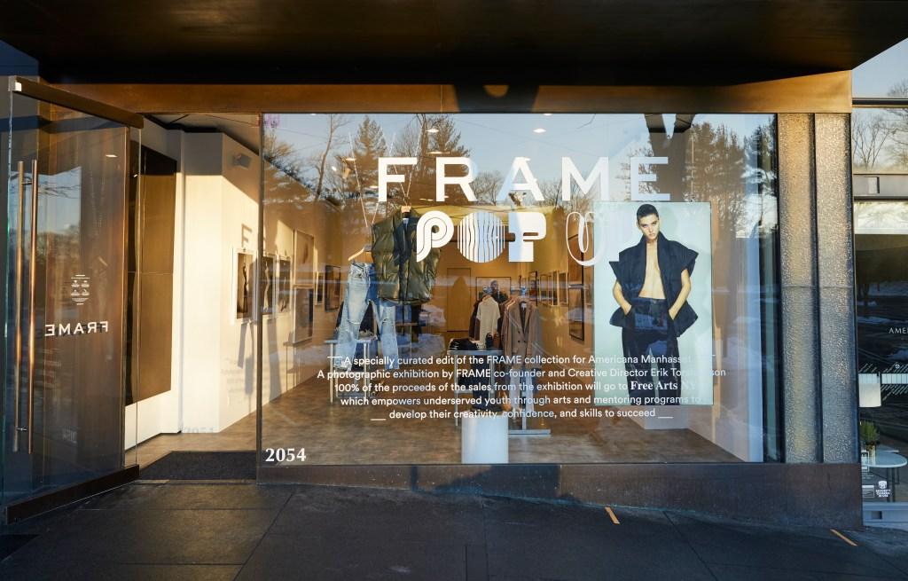 The FRAME Manhasset pop-up shop.