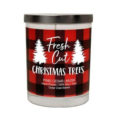 cedar crate market fresh cut christmas tree candle
