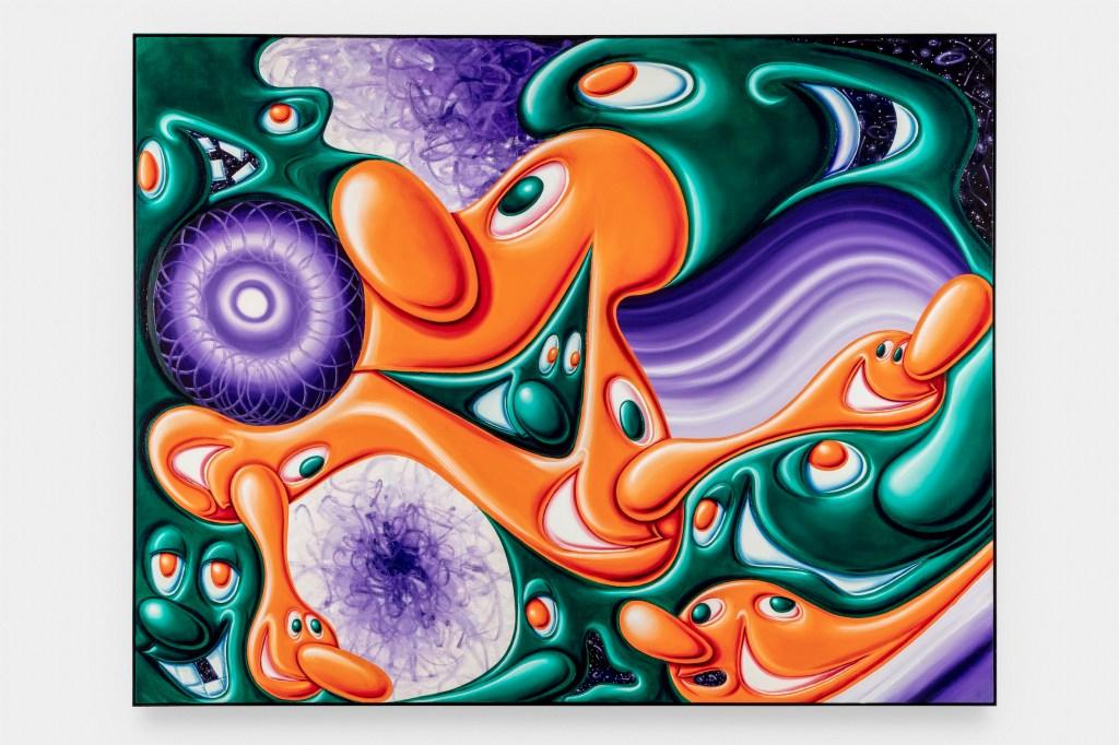 "Kenny Scharf's 2020 painting ""Koz"""