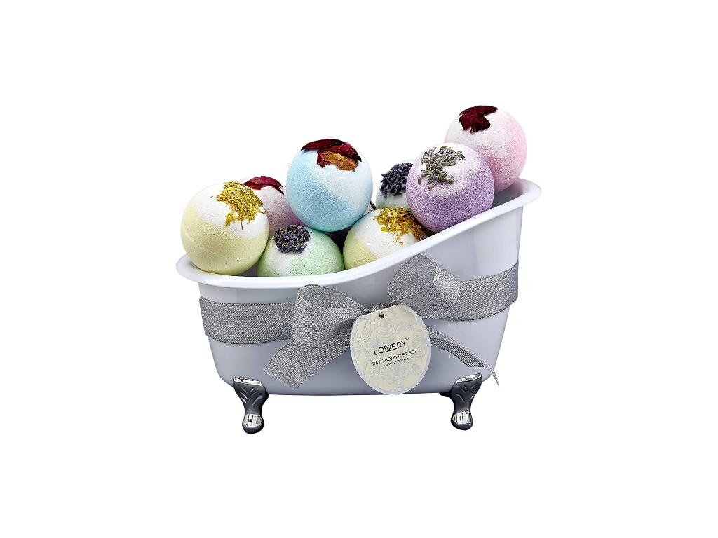 lovery, bath bomb gift set