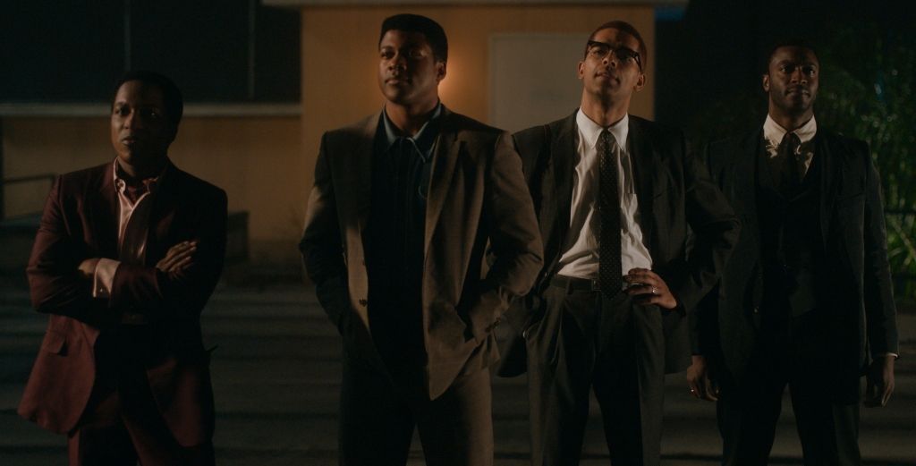 Leslie Odom Jr., Eli Goree, Kingsley Ben-Adir and Aldis Hodge in a film still from