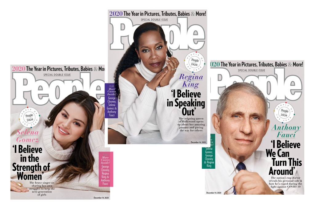 People Names Dr. Anthony Fauci, Selena Gomez, Regina King and George Clooney 2020 People of the Year