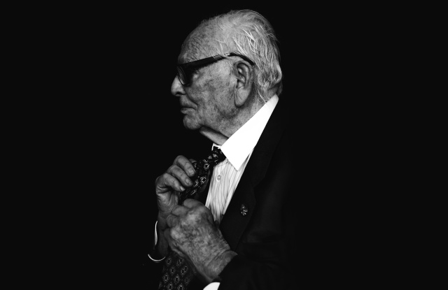 Pierre Cardin portrait, photographed on September 19, 2017