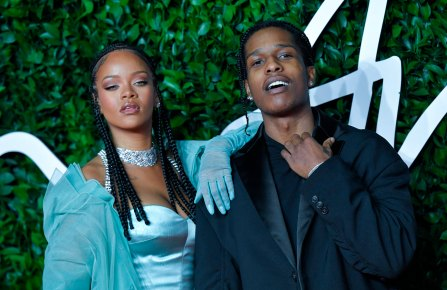 Rihanna and ASAP Rocky attending the Fashion Awards 2019 at the Royal Albert Hall in London, England on December 02, 2019. Photo by AuroreMarechal/Abaca/Sipa USA(Sipa via AP Images)