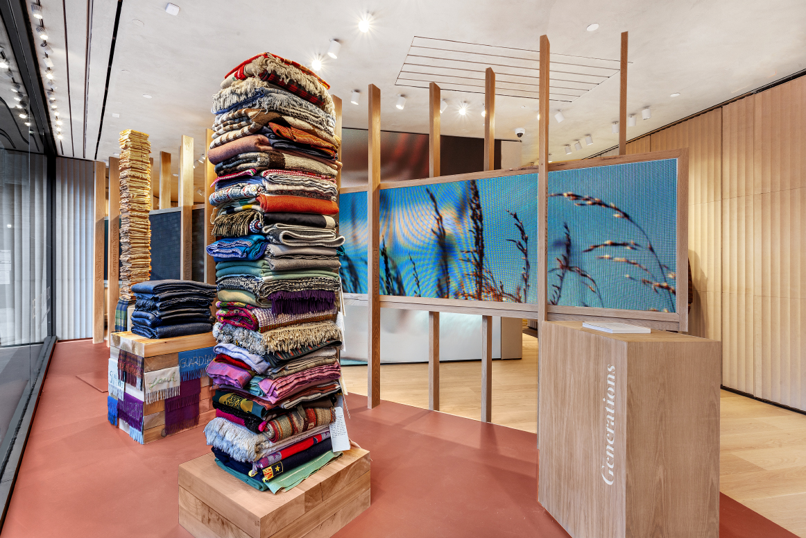 The Marie Watts exhibition at the new Loro Piana store in the Meatpacking District.
