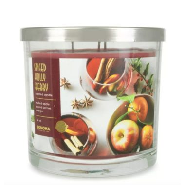 Sonoma Goods For Life Spiced Holly Berry christmas candle