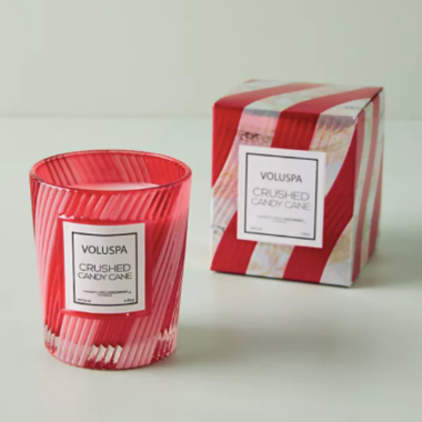 voluspa candy cane christmas candle