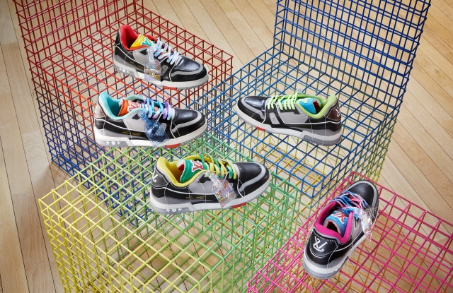 A selection of Louis Vuitton sneakers designed by Virgil Abloh.