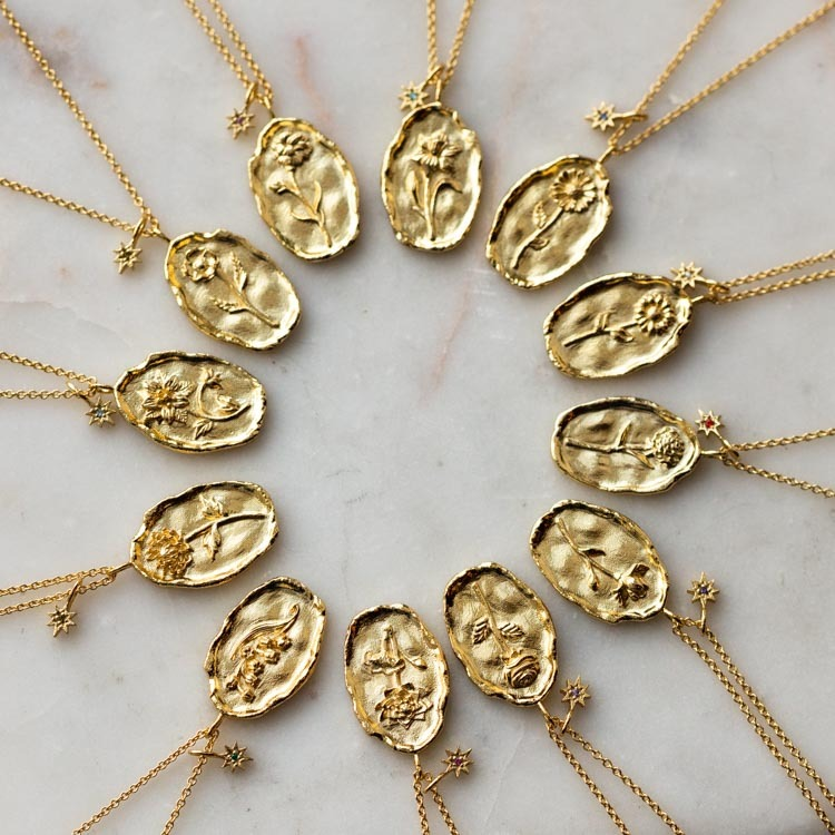 Local Eclectic's 'Birth Flower' Necklaces