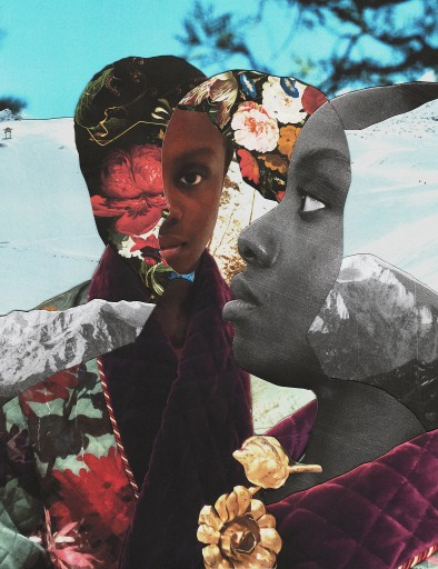 "Alayo Akinkugbe's collage  for ""Pioneers of the Past""."