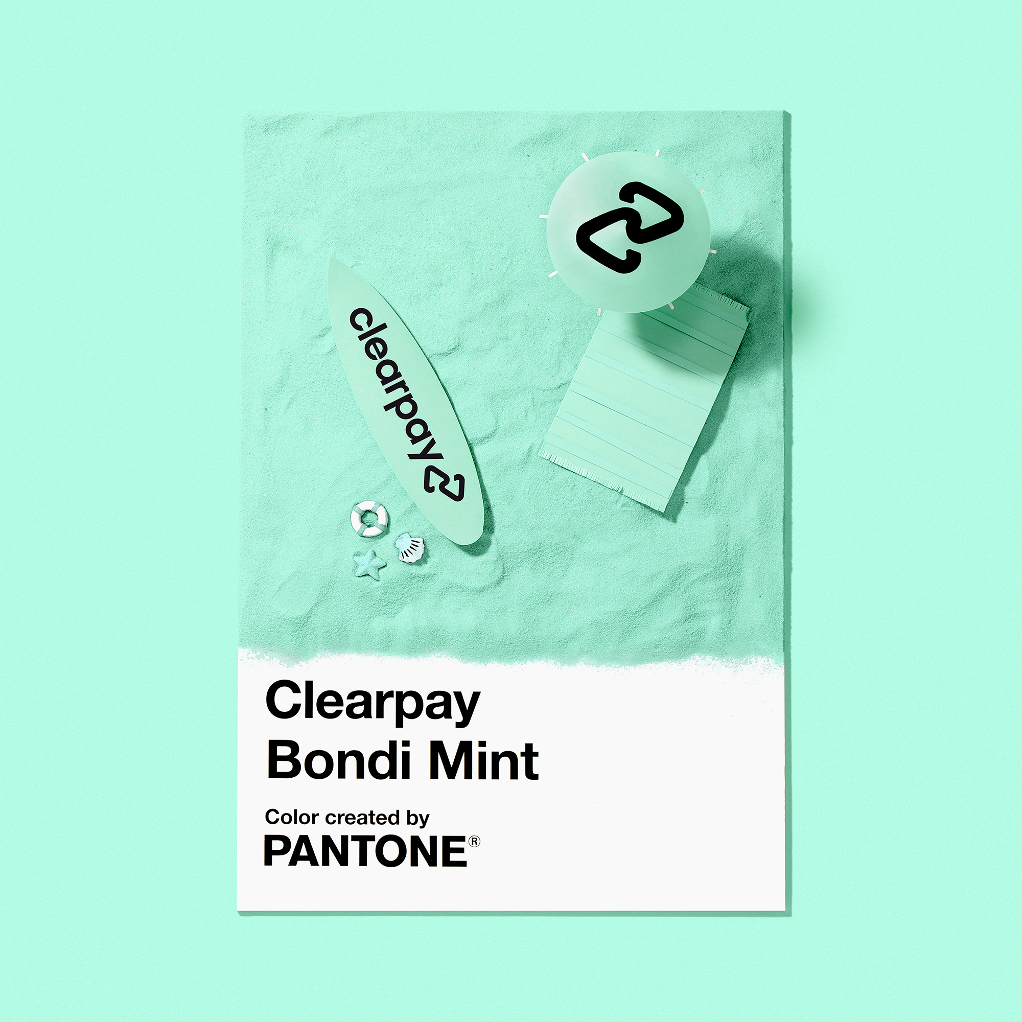 Clearpay rebranded last year and worked with Pantone on a bespoke shade of green called Bondi Mint.