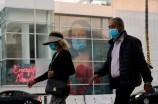 Masked pedestrians in Los Angeles