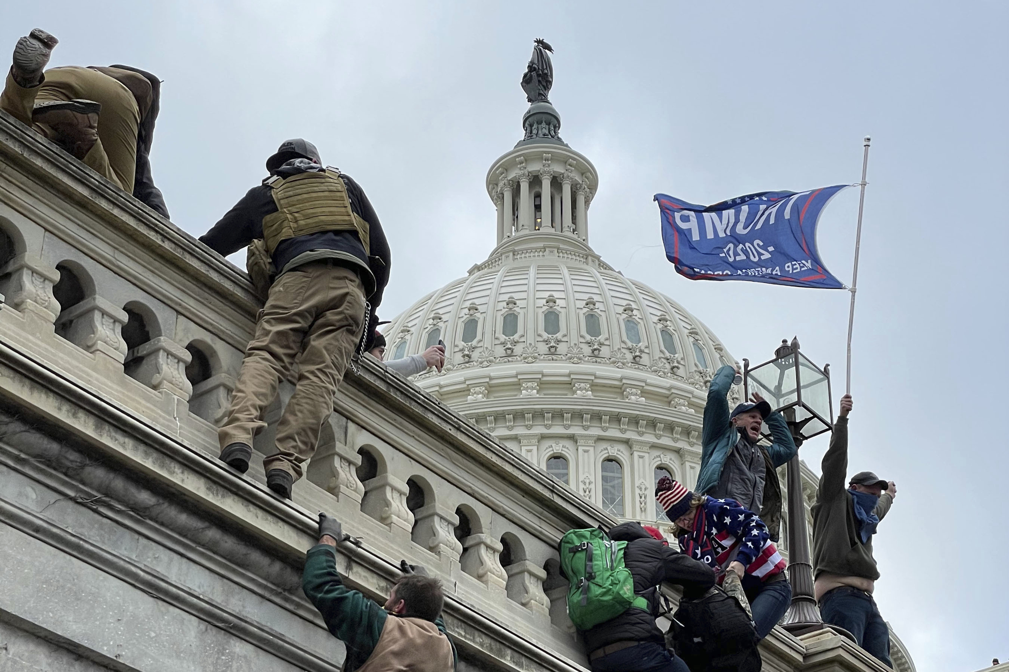 """The United States Capitol Building in Washington, D.C. was breached by thousands of protesters during a """"Stop The Steal"""" rally in support of President Donald Trump."""