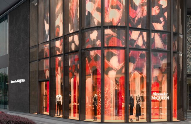 The new Alexander McQueen store at ITC in Shanghai.