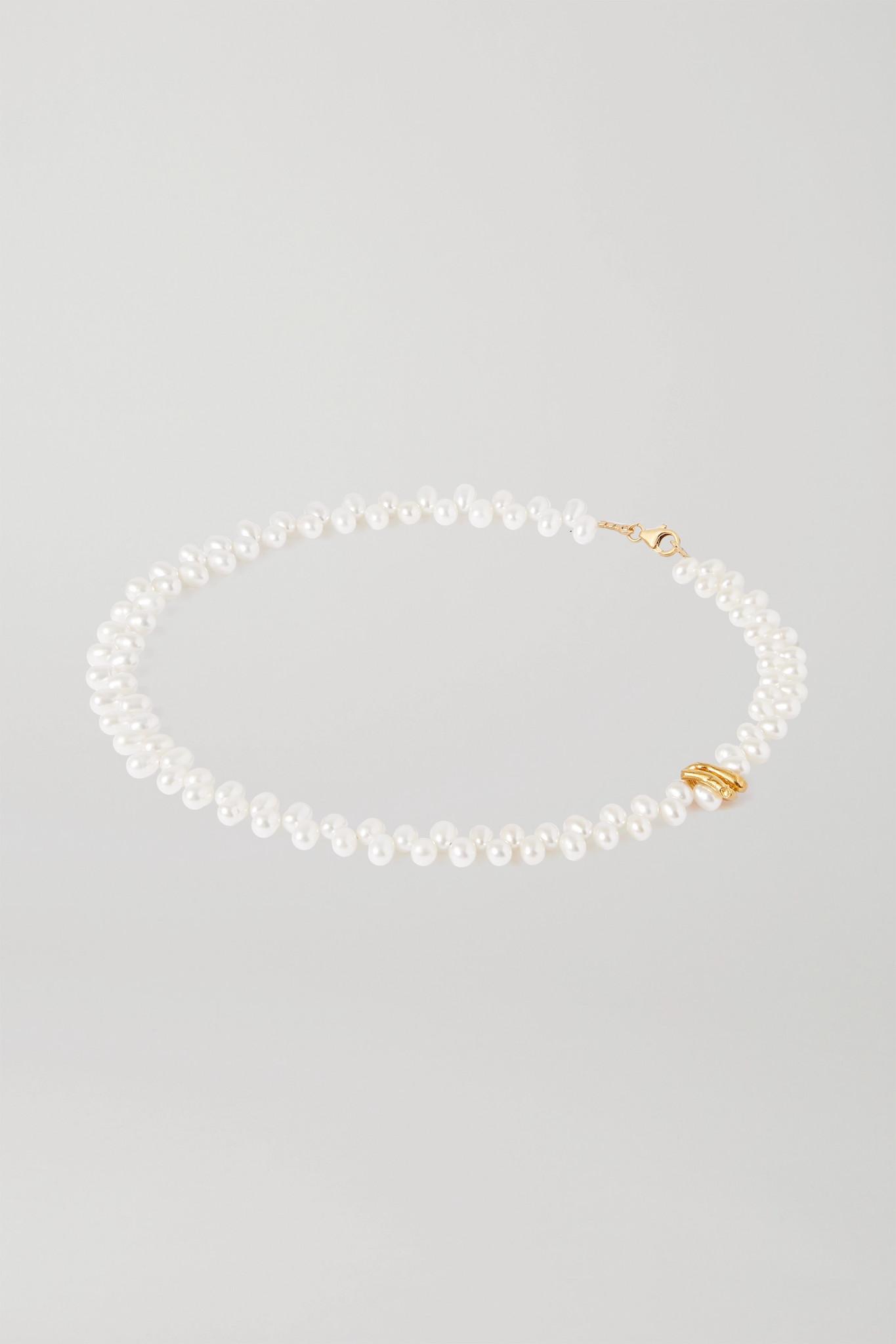 Inauguration Fashion 2021: Alighieri gold plated pearl neckace, $310