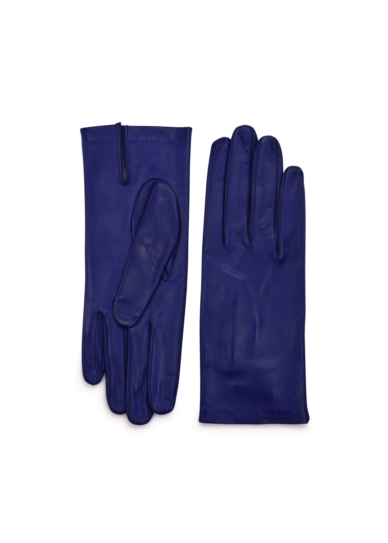 Inauguration Fashion 2021: Amato New York blue gloves, $127