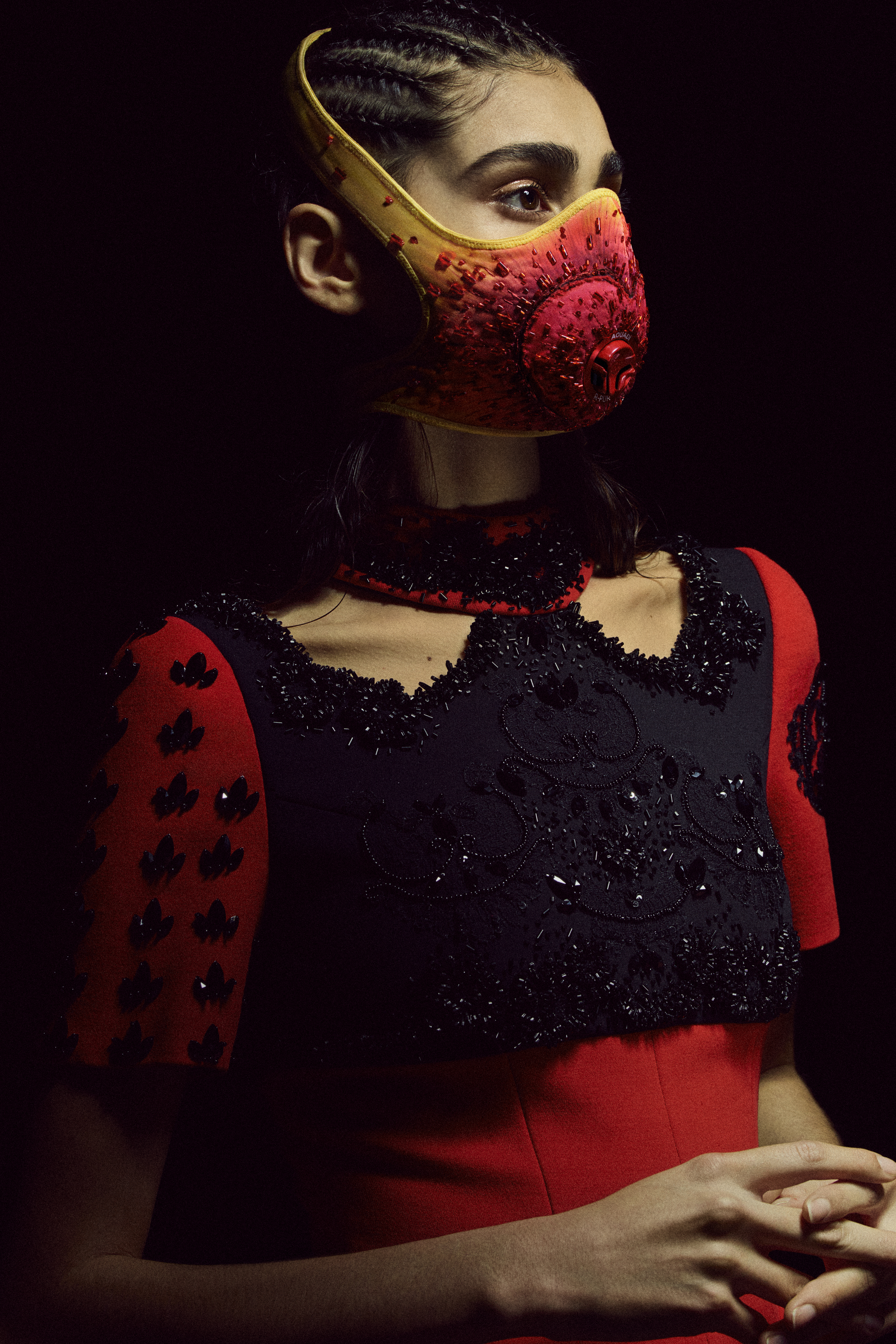 The Fiery Heart mask from the Yacine Aouadi x R-Pur collaboration.