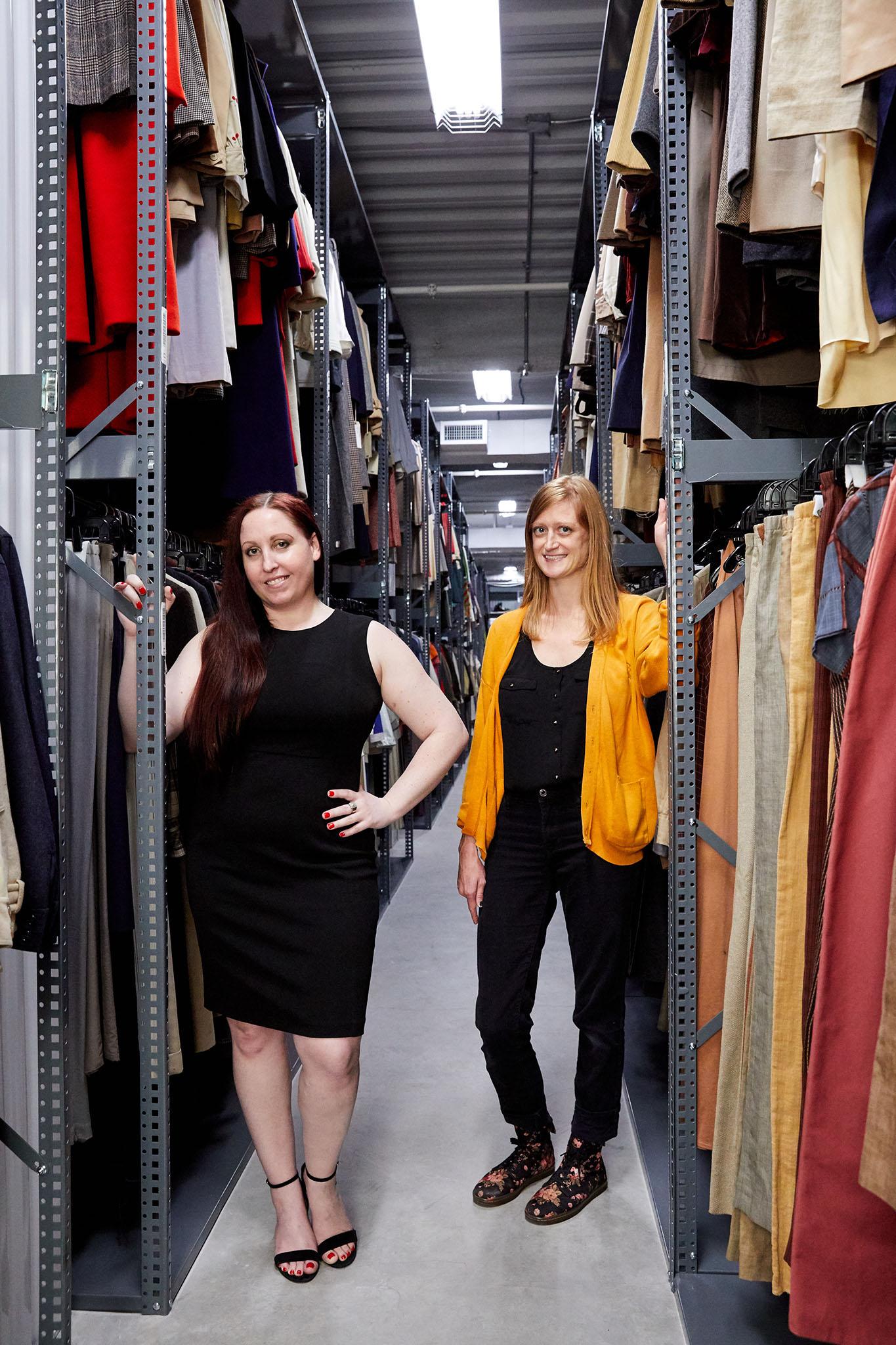 Calvin Klein archivists Vanessa Garber and Jessica Barber.