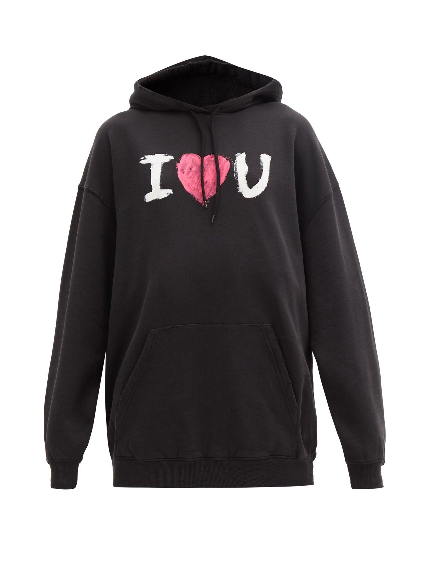 8 Unisex Valentine's Day Gifts: Balenciaga Valentine Sweatshirt