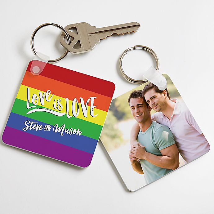 """25 Unexpected Ways To Say """"I Love You"""" this Valentine's Day, Bed Bath & Beyond """"Love is love"""" Key chain"""