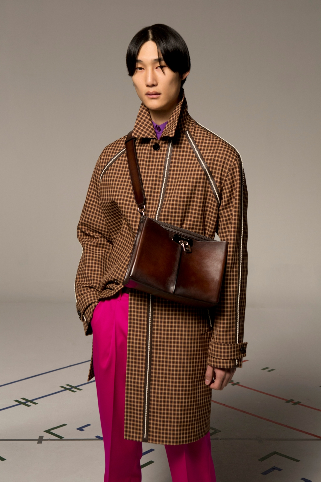 A look from Berluti's upcoming fall 2021 collection.