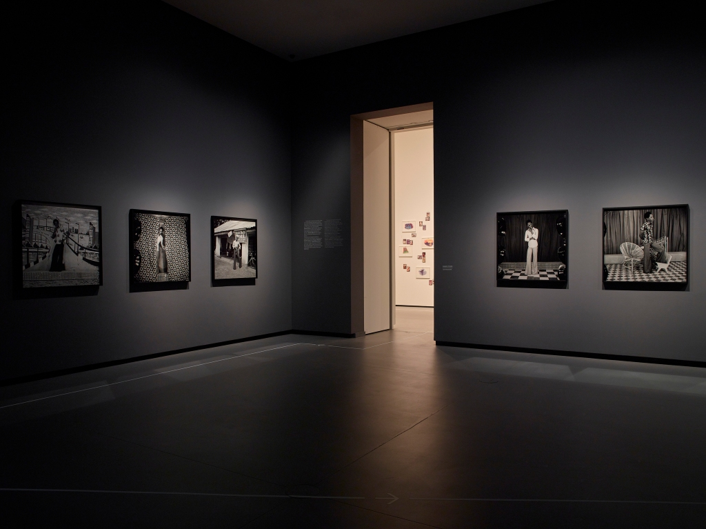 A view of the CIndy Sherman exhibit at the Fondation Louis Vuitton