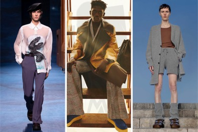 From left: Dior, Loewe, and Dries van Noten