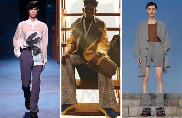 From left: Dior, Loewe, and Dries van Noten