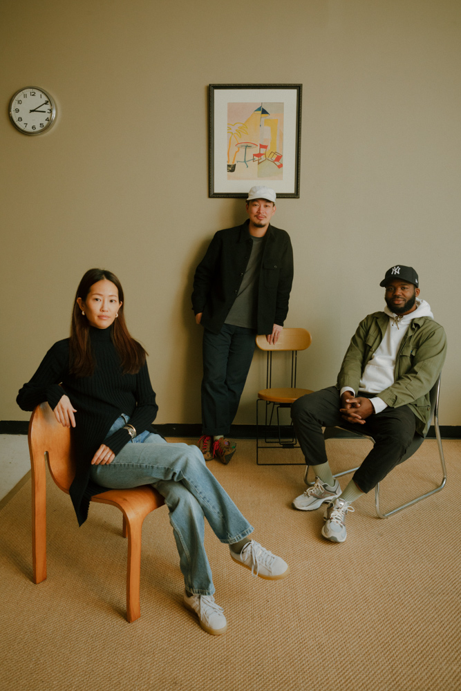 Jenni Lee, Founder and Creative Director of Comme Si, with Ed Be and Jared Blake, Co-Founders of Lichen