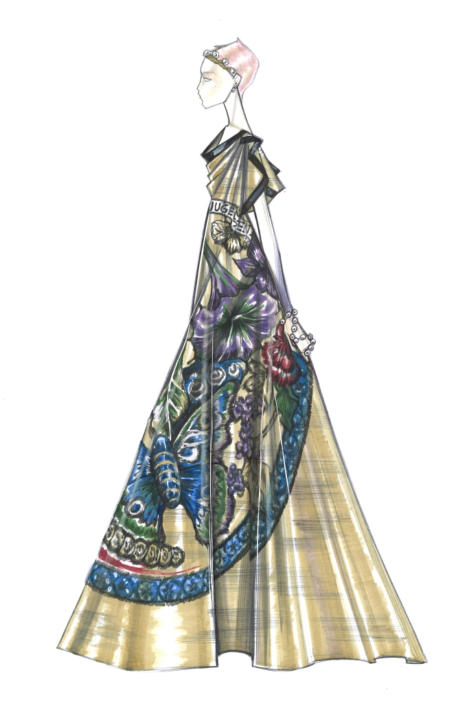 A sketch from Christian Dior, Spring 21 - Haute Couture Collection.