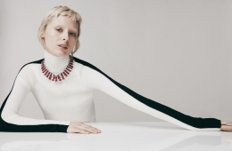 The Rubia white diamond and ruby necklace from David Morris' new 'Renaissance' high jewelry collection