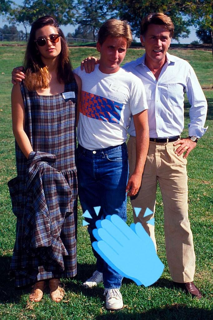 Demi Moore, Emilio Estevez And Martin Sheen, 1999.