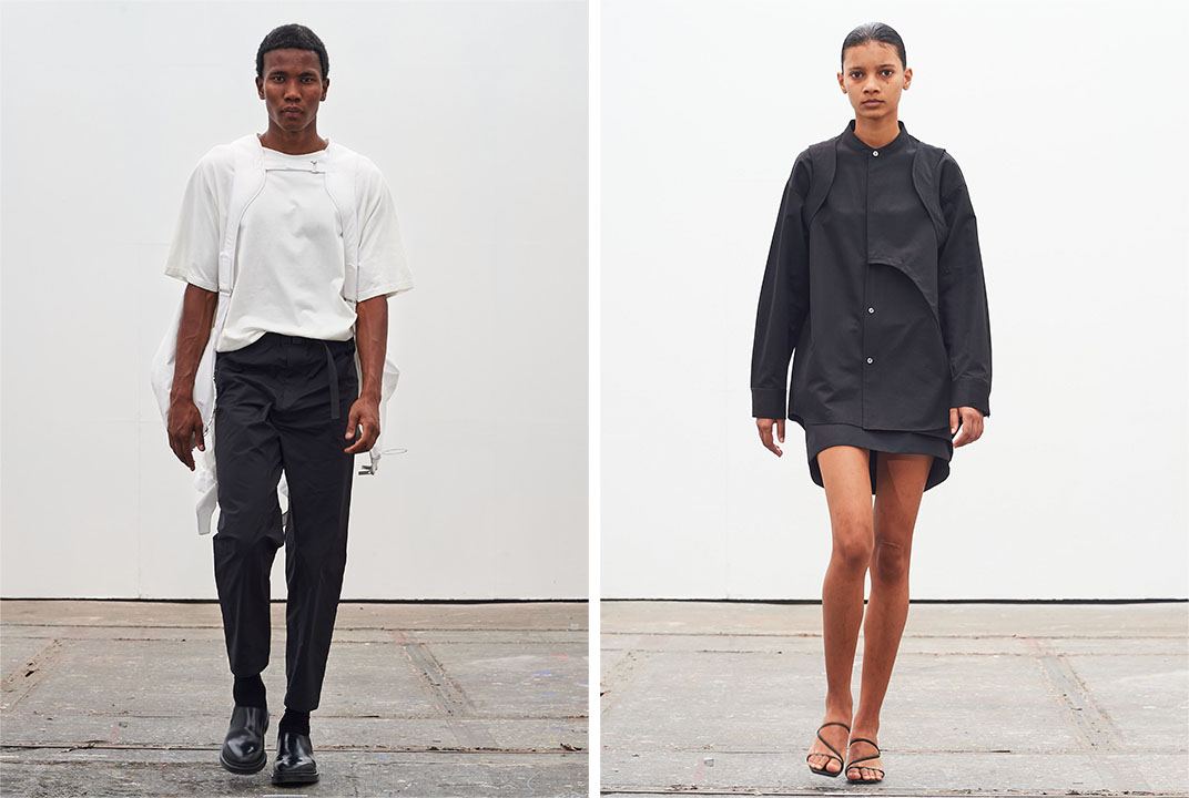 Looks from the debut collection of Extraless.