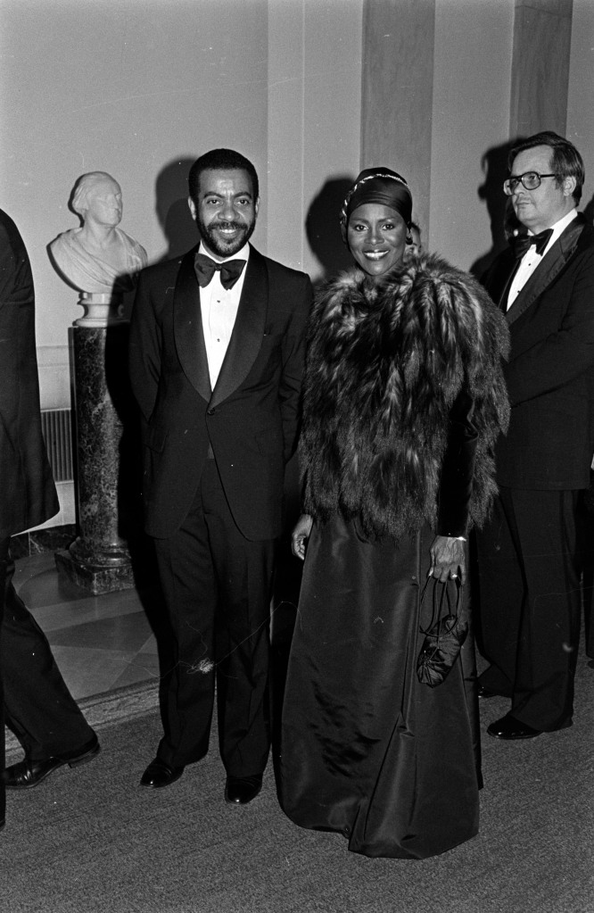 Cicely Tyson (C) attends an event at the White House in Washington, D.C., on December 2, 1979.