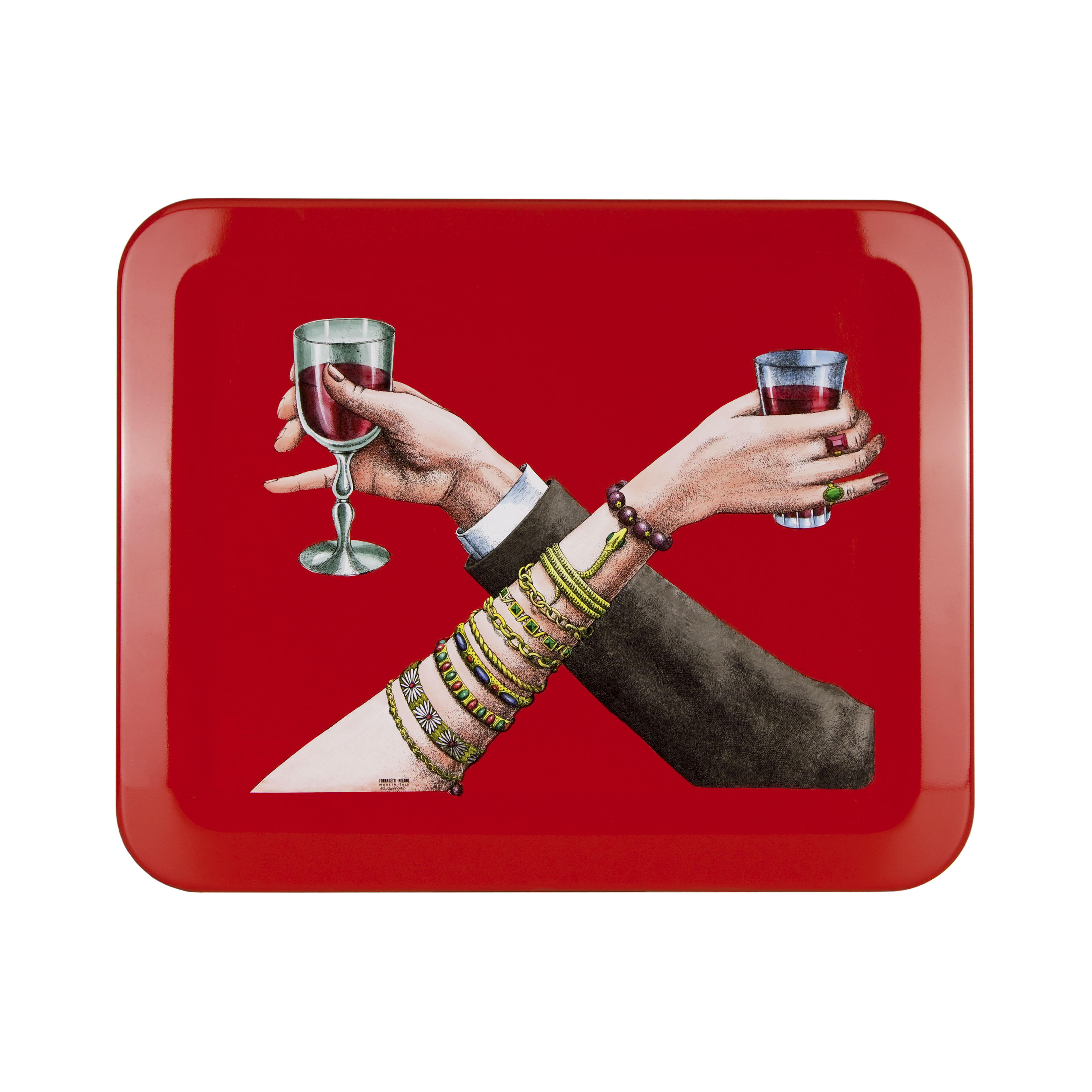 """28 Unisex Valentine's Day Gifts: Fornasetti """"Brindisi"""" Tray"""