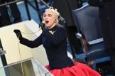 Lady Gaga sings the U.S. National Anthem.