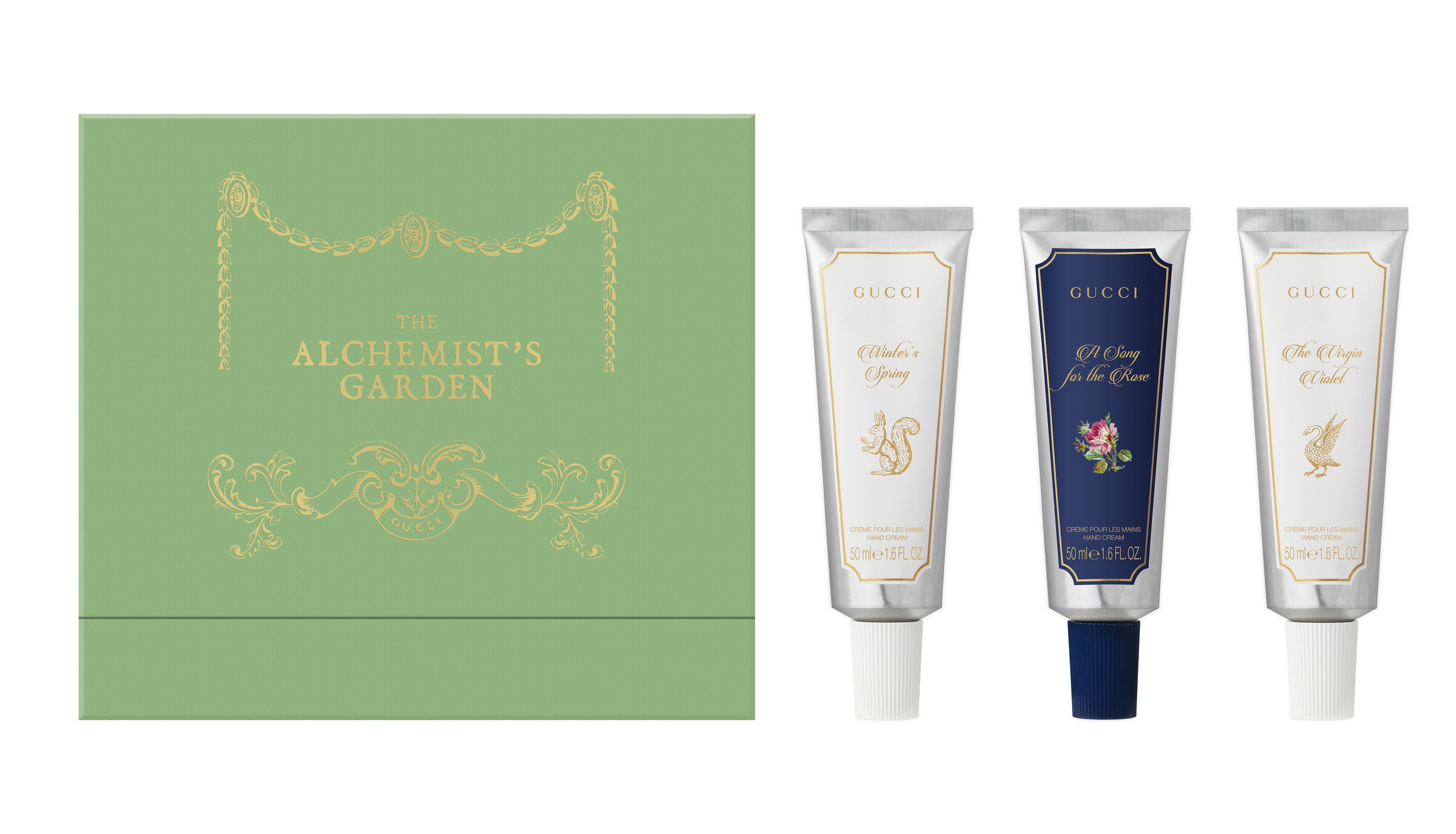 28 Unisex Valentine's Day Gifts: Gucci The Alchemist's Garden 3-Piece Hand Cream Set