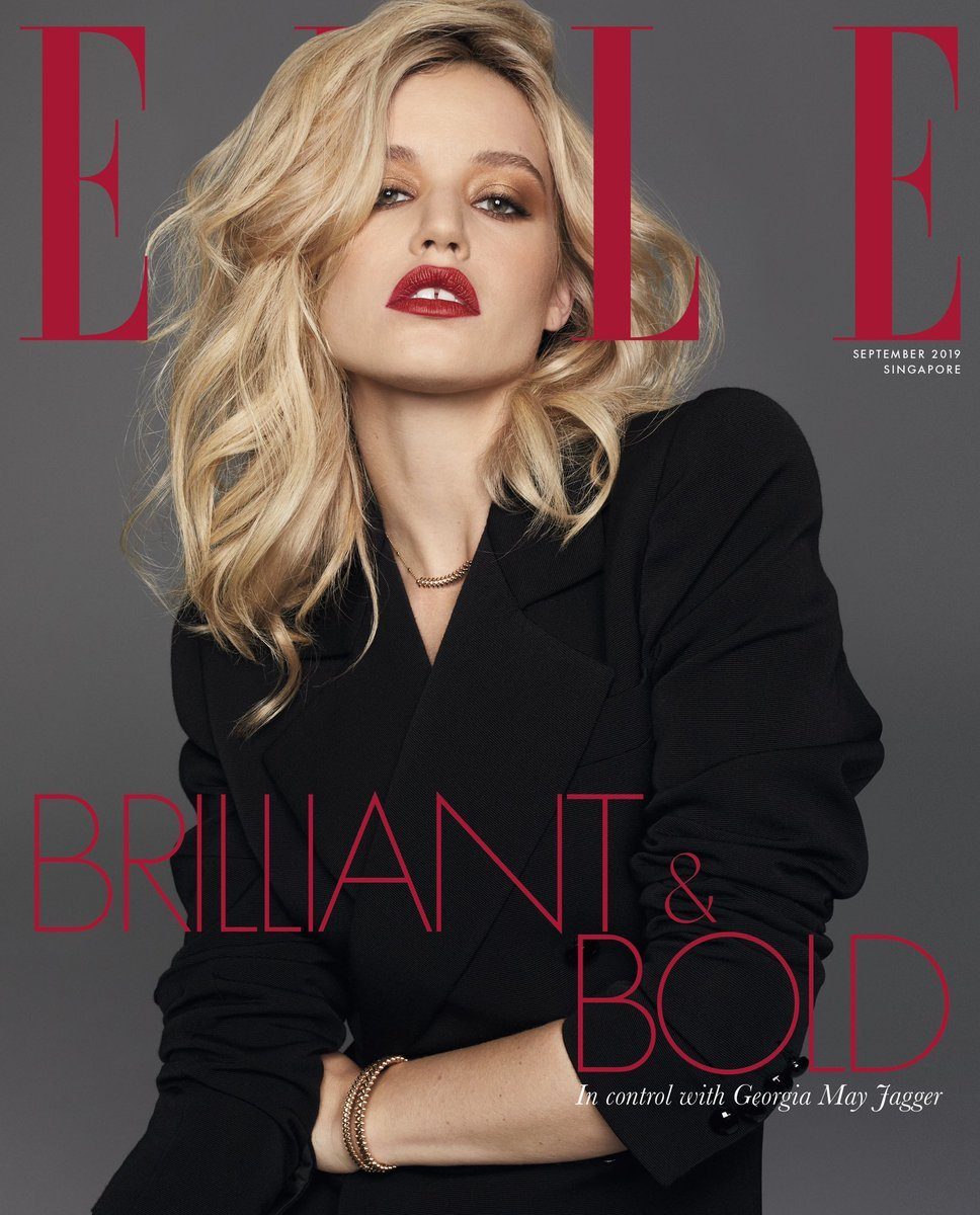 Georgia May Jagger on the cover of Elle.