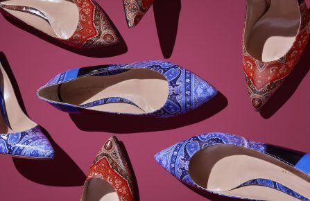 Shoes from the Gianvito Rossi for Etro capsule collection.