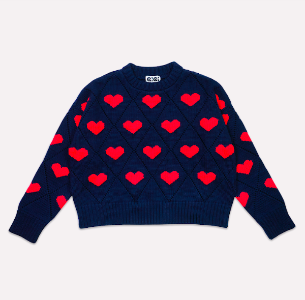 28 Unisex Valentine's Day Gifts: Gigi Knitwear Heart Sweater