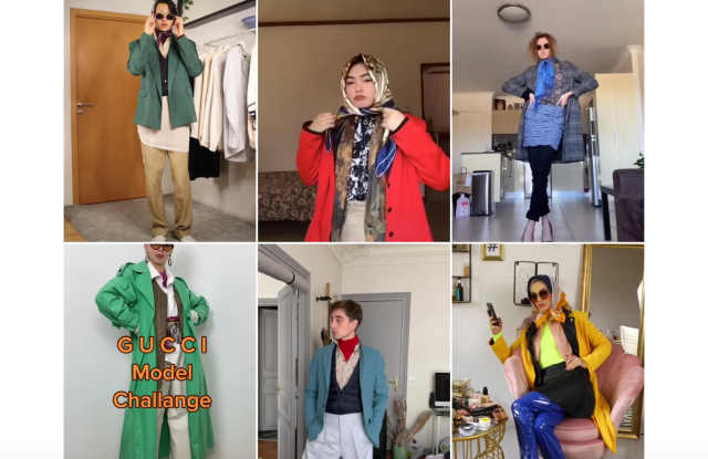 Gucci model challenge on TikTok