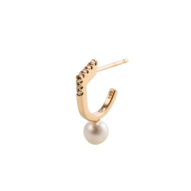 28 Unisex Valentine's Day Gifts: Hirotaka Manhattan Pearl Diamond Earring
