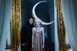 Matteo Garrone with a model on the set of his short film for Dior.