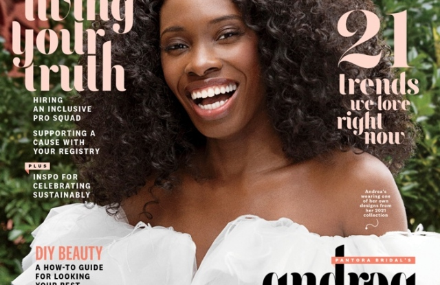 The spring issue of The Knot features Andrea Pitter, founder and designer of Pantora Bridal.