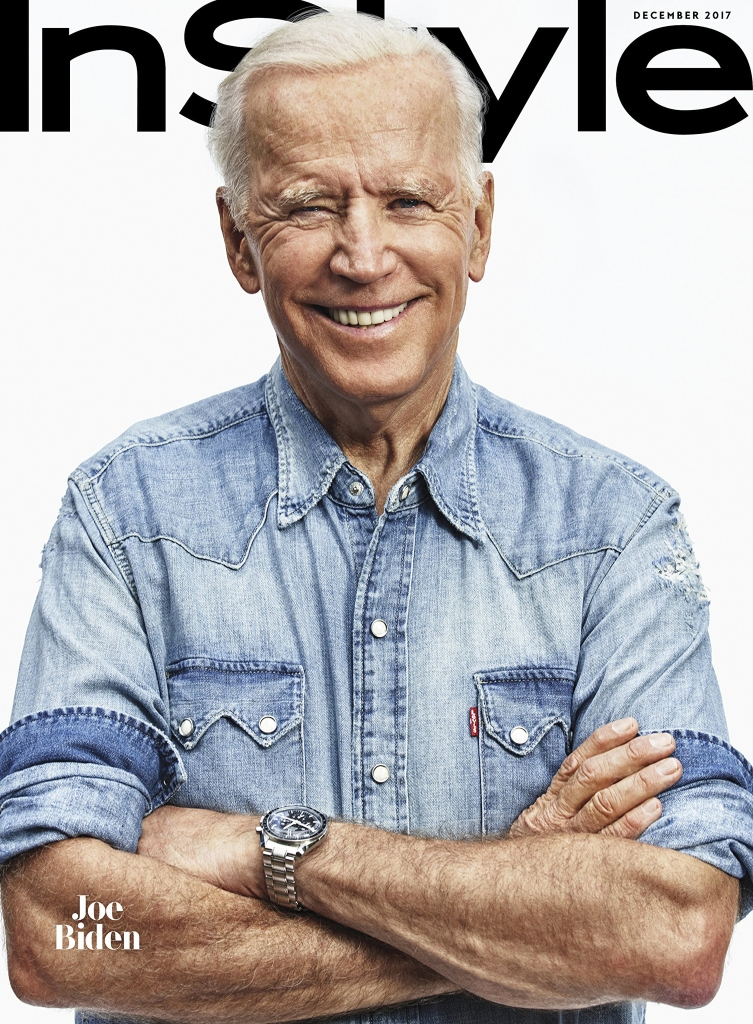 Joe Biden on Instyle's December 2017 cover.
