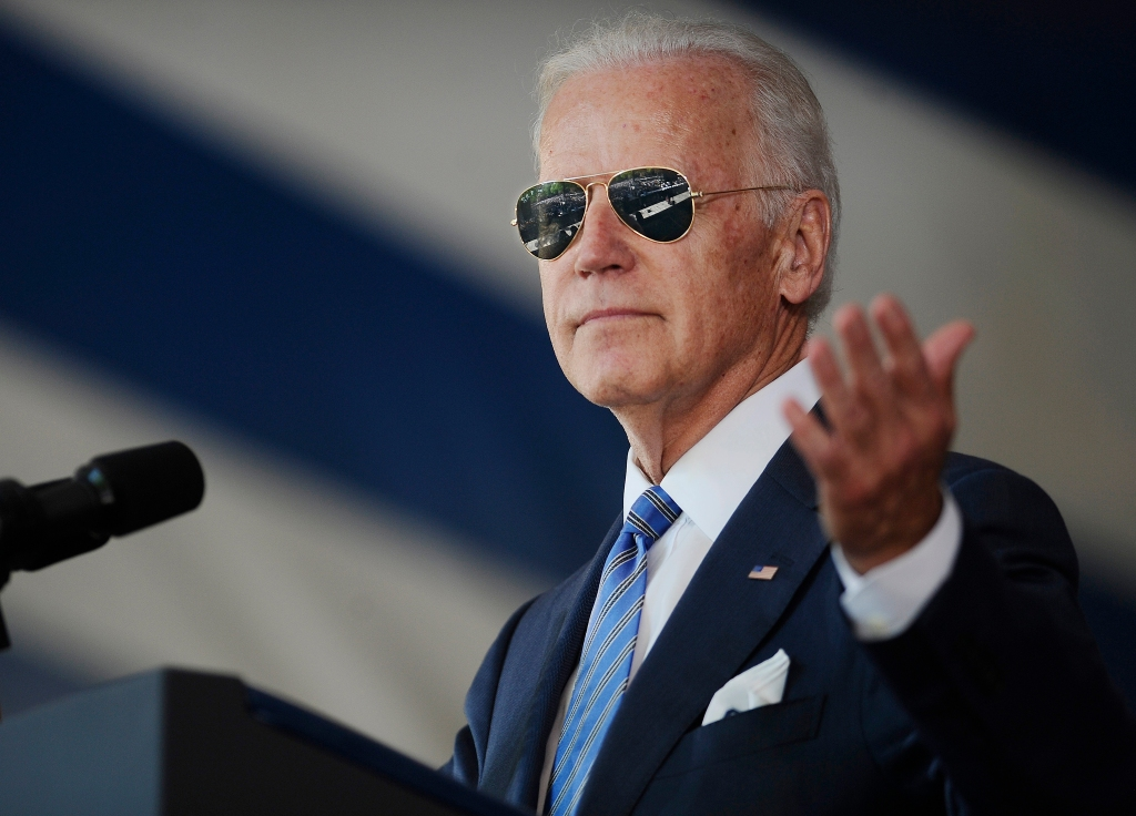 President-elect Joe Biden as he delivers the Class Day Address at Yale University, 2015. (AP Photo/Jessica Hill, File)