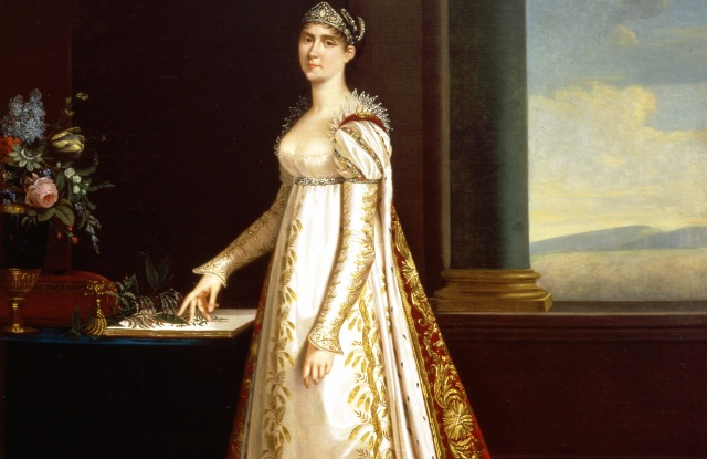 Empress Joséphine with a Herbarium, 1805 painting by Robert Lefèvre