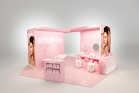 A rendering of the Kylie Skin pop-up shop.