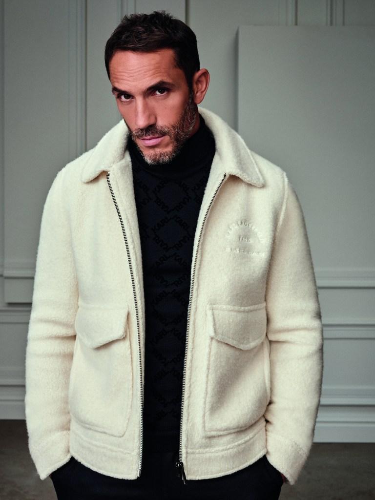 Sébastien Jondeau modeling for the Karl Lagerfeld brand.