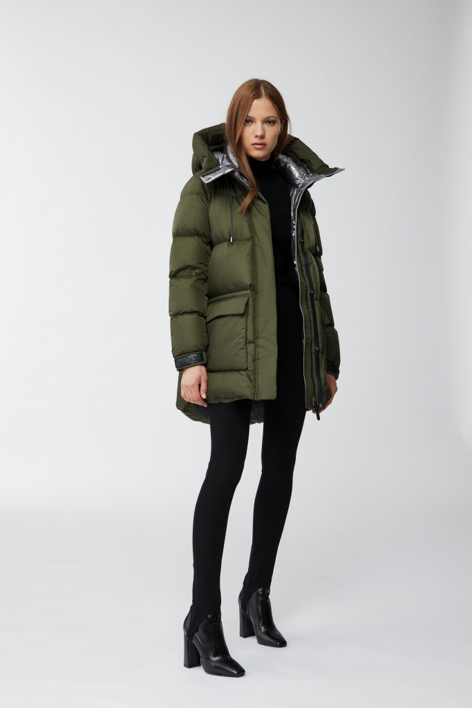 The Maisie down jacket from Mackage in Army green.
